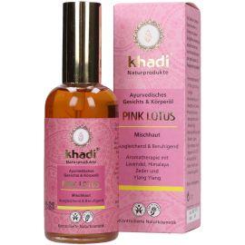 Khadi pleťový a tělový olej RŮŽOVÝ LOTOS 100ml