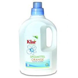 Prostředek na nádobí pomeranč - koncentrát  KLAR  1,5l