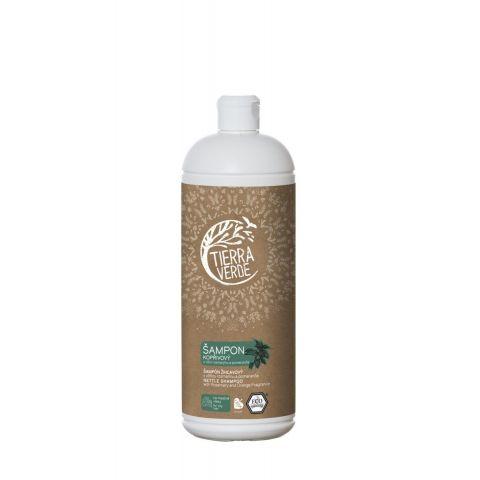 Kopřivový šampon na mastné vlasy s vůní rozmarýnu a pomeranče Tierra Verde 1 l