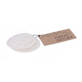 Kosmetický tampon pratelný z biobavlněného sametu – malý (7 cm) 2 ks Mama Natura