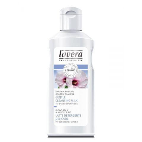 Čisticí pleťové mléko Faces Bio sléz & Bio mandle Lavera 125ml