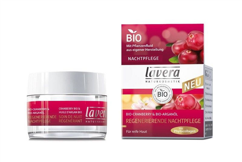 Regenerační noční krém 45+ Bio brusinka & Bio arganový olej Lavera 50ml