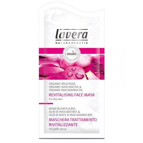 Maska revitalizační pleťová Faces Bio Divoká růže & Bio avokádový olej  Lavera  10ml
