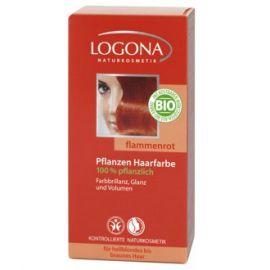 Barva na vlasy Henna Ohnivá červená Logona 100g