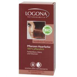 Barva na vlasy Henna Ořech & kaštan Logona 100g