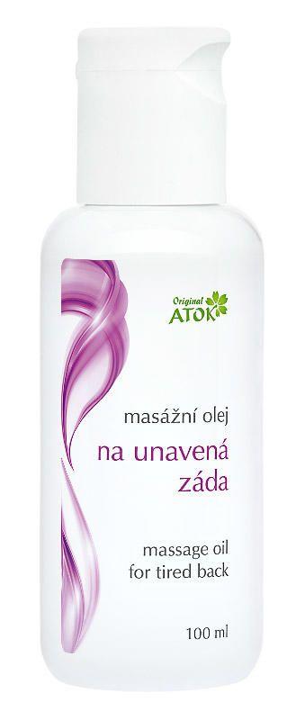 Masážní olej na unavená záda Atok