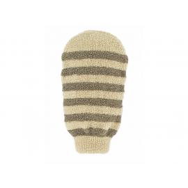 Masážní rukavice - bio len - proužky s 2 hrubostmi Förster´s