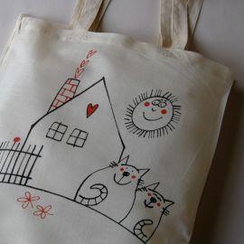 Nákupní taška bavlněná Doma