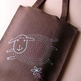 Nákupní taška lněná Hnědá