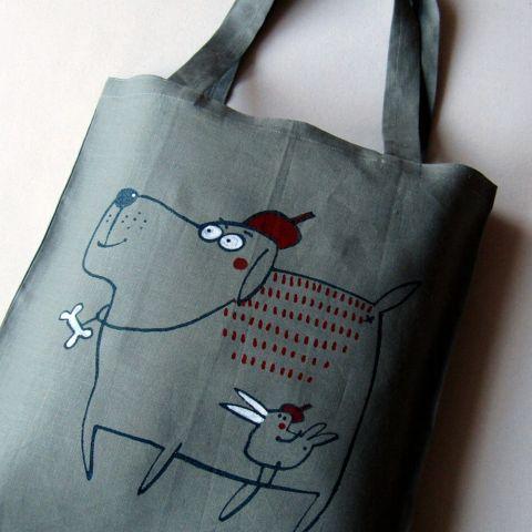 Nákupní taška lněná Zelená