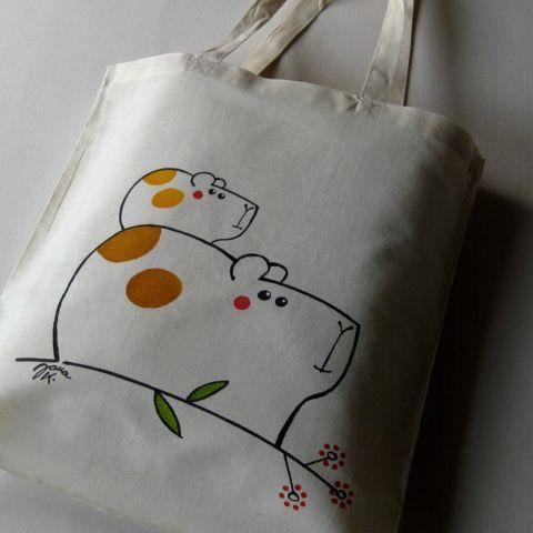 Nákupní taška bavlněná Morčátko
