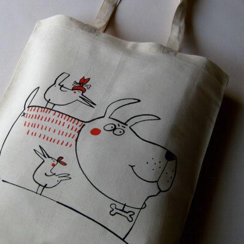 Nákupní taška bavlněná Pes