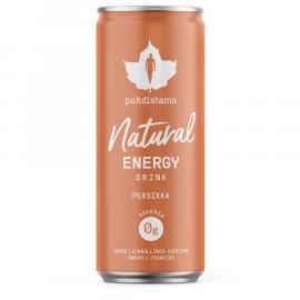 Natural Energy Drink peach (Energetický nápoj - broskev) Puhdistamo 330ml