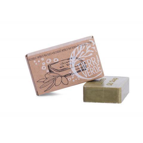 Olivové mýdlo na ruce v krabičce Yellow & Blue 100g