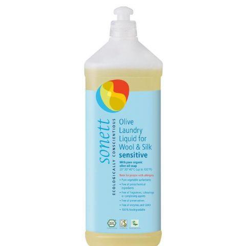 Olivový prací gel na vlnu a hedvábí Sensitive Sonett 1 L