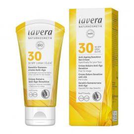 Opalovací krém Sensitiv SPF 30 Anti-Ageing Lavera 50 ml