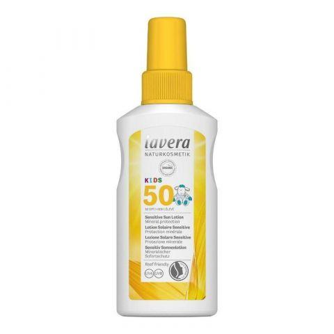 Opalovací mléko SPF 50 pro děti Lavera 100 ml