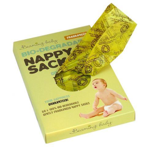 Organické sáčky na použité plenky s vůní Beaming baby 60 ks