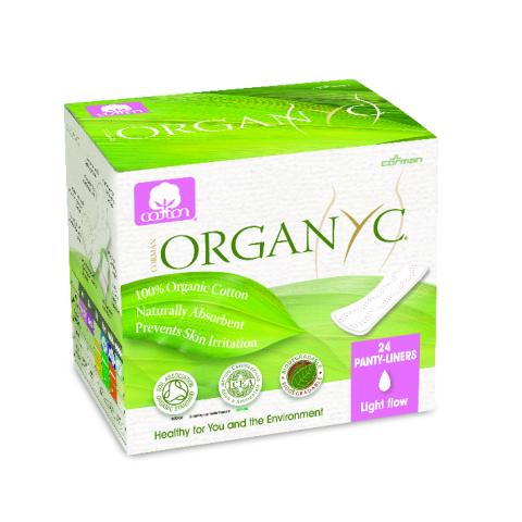 Dámské vložky menstruační slabé Organyc  24ks
