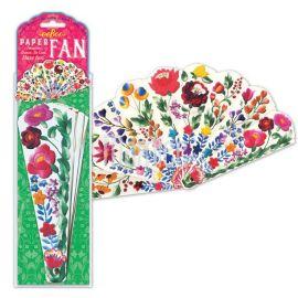 Papírový vějíř - Květiny Mamiee
