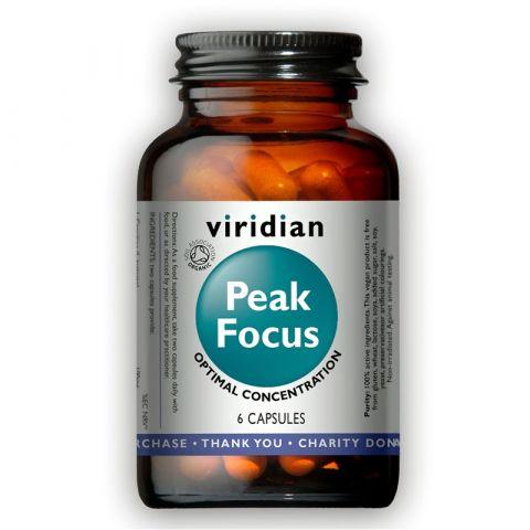 Peak Focus Organic (Normální kognitivní funkce) 6 kapslí Viridian
