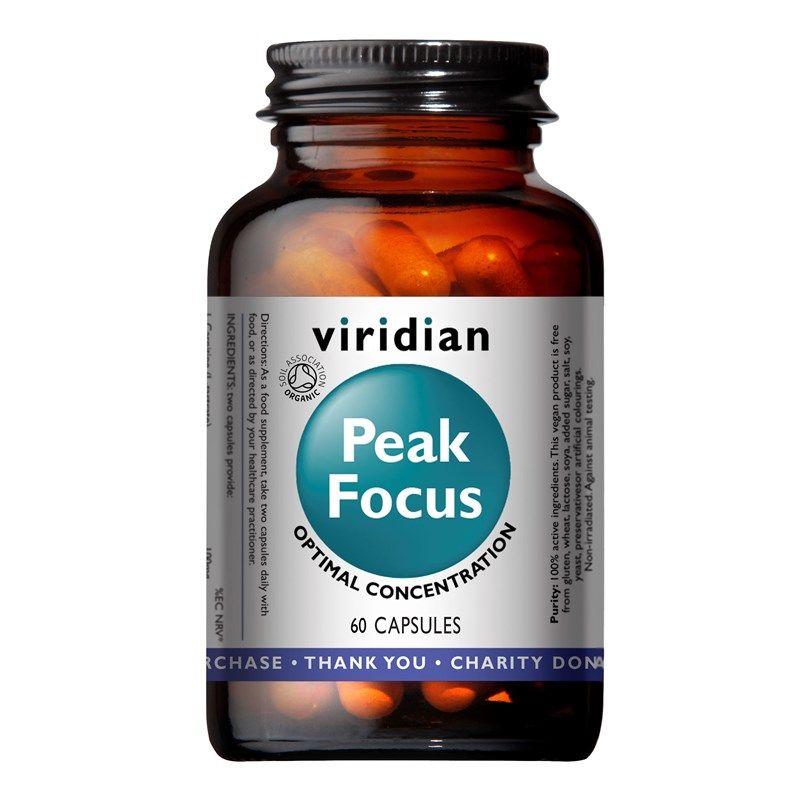 Viridian Peak Focus Organic (Normální kognitivní funkce) 60 kapslí