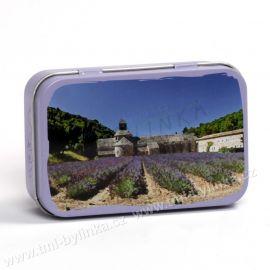 Plechová krabička na mýdlo s motivem ABBAYE DE SÉNANQUE (Opatství Senanque) La Maison