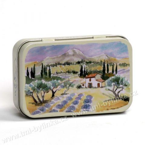 Plechová krabička na mýdlo s motivem BAUX DE PROVENCE (Krásy Provence) La Maison