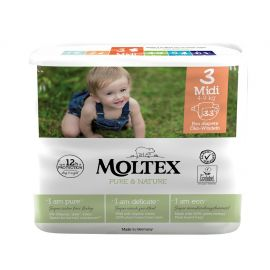Plenky Pure & Nature Midi Moltex 4-9 kg 33 ks