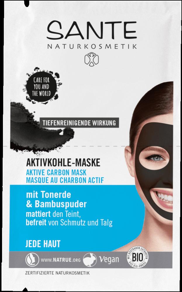 Pleťová maska s aktivním uhlím Sante 2x4 ml