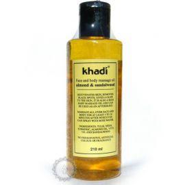 Pleťový a tělový olej SANTALOVÉ DŘEVO & MANDLE Khadi  210ml