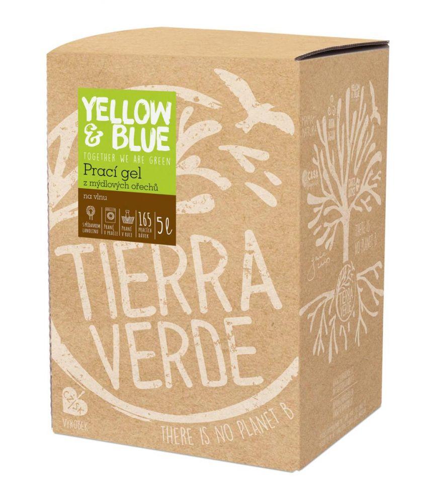 Yellow & Blue Prací gel z mýdlových ořechů na vlnu 5L