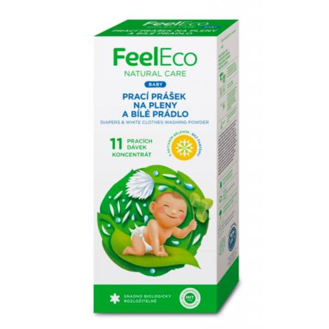 Prací prášek Baby na pleny a bílé prádlo Feel Eco 660g