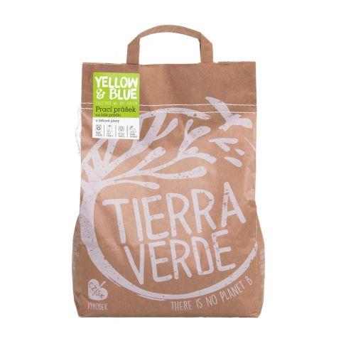 Prací prášek z mýdlových ořechů na bílé prádlo a látkové pleny Tierra Verde 5kg