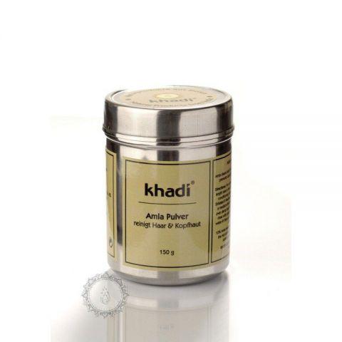 Prášek Amla Bio - přírodní Kondicionér a Intenzivní vlasová kúra Khadi  150g