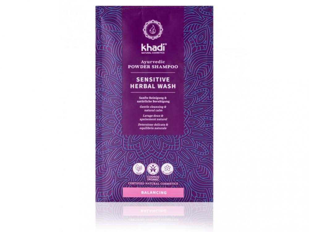 Khadi Práškový šampón MYTÍ ROSTLINAMI - SENSITIVE 50 g