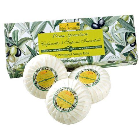 Mýdla balená v dárkové krabičce organická Prima Spremitura 3x100g