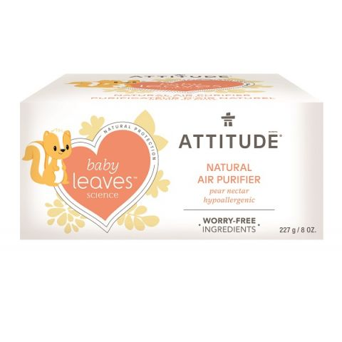 Přírodní čistící osvěžovač vzduchu s vůní hruškové šťávy Attitude Baby leaves 227g