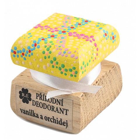 Přírodní krémový deodorant barevný Vanilka a Orchidej RaE 15ml