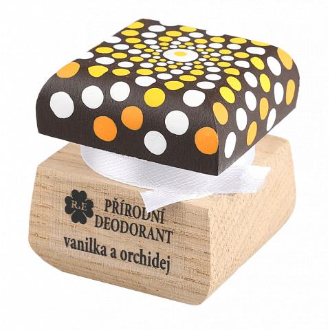 Přírodní krémový deodorant mandala Vanilka a Orchidej RaE 15ml