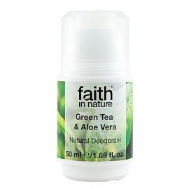 Přírodní kuličkový deodorant pro ženy - Green Tea Faith in Nature 50 ml