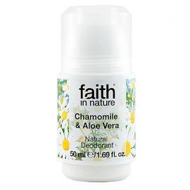 Přírodní kuličkový deodorant pro ženy - heřmánek Faith in Nature 50 ml