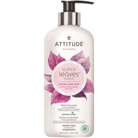 Přírodní mýdlo na ruce s detoxikačním účinkem Čajové listy Attitude Super leaves 473ml