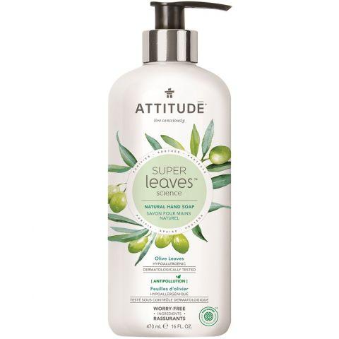 Přírodní mýdlo na ruce s detoxikačním účinkem Olivové listy Attitude Super leaves 473ml