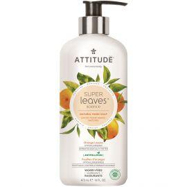 Přírodní mýdlo na ruce s detoxikačním účinkem Pomerančové listy Attitude Super leaves 473ml