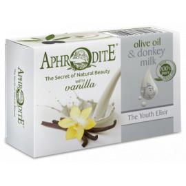 Přírodní mýdlo olivový olej & oslí mléko & vanilka Aphrodite 85g