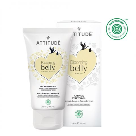Přírodní olej pro těhotné a po porodu - argan a mandle Attitude Blooming Belly 150ml