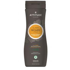 Přírodní pánský šampón & tělové mýdlo (2v1) s detoxikačním účinkem - normální vlasy Attitude Super leaves 473ml