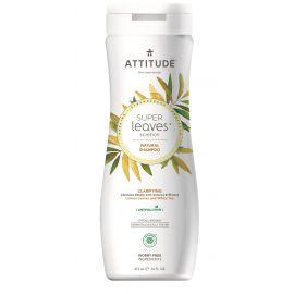 Přírodní šampón s detoxikačním účinkem - rozjasňující pro normální a mastné vlasy Attitude Super leaves 473ml