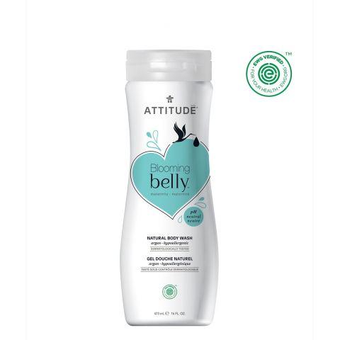 Přírodní tělové mýdlo nejen pro těhotné s arganem Attitude Blooming Belly 473ml